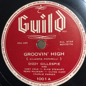 Groovin' High Original 78 RPM release, Discogs